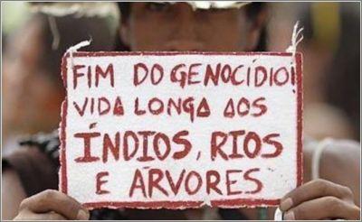 Pelo fim do genocídio indígena no Brasil e nas Américas.