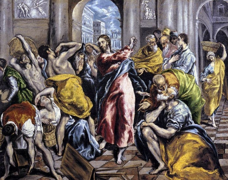 El Greco - The Purification of the Temple 1600